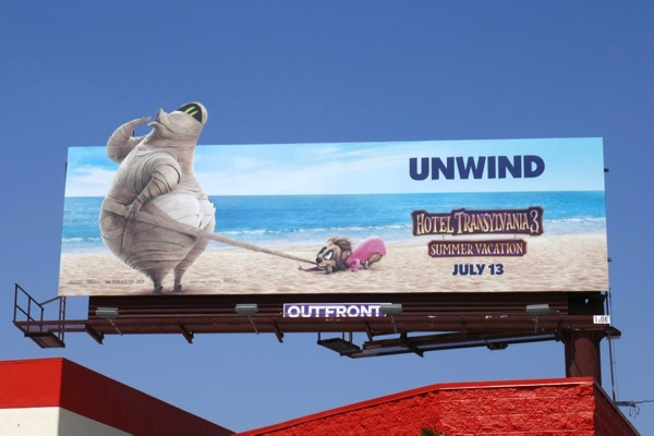 Hotel Transylvania 3 Murray Mummy billboard
