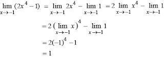 Contoh soal limit fungsi dan pembahasannya 2