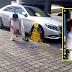 (Video) Berang tayar dikunci, pemilik kereta Mercedes pukul pengawal keselamatan