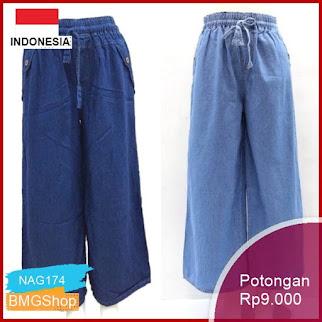 NAG174 Kulot Klok Soft Jeans Size L Murah Bmgshop