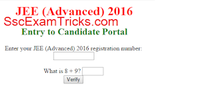 JEE Advanced Admit Card 2016