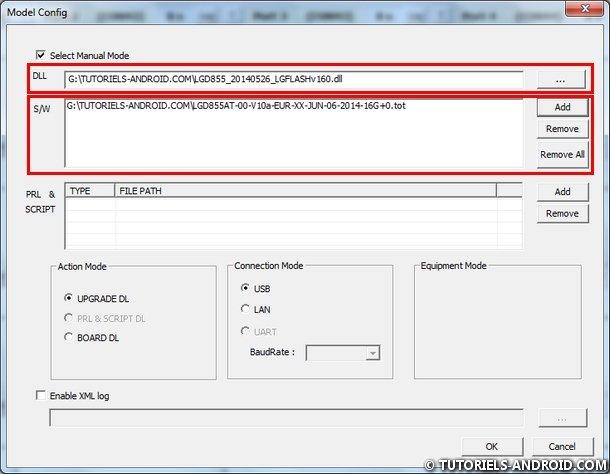 Configurer LG Flash Tool