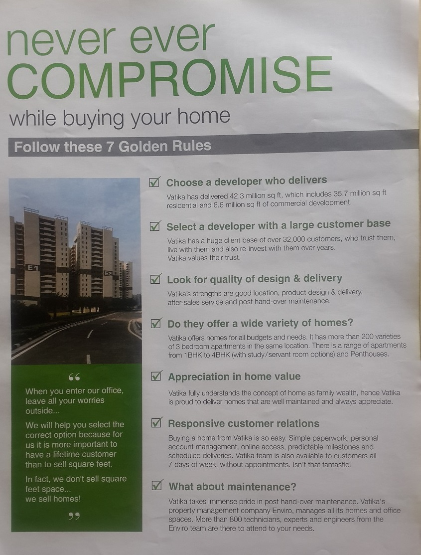 Home Buying Golden Rules - Gurgaon (Gurugram)