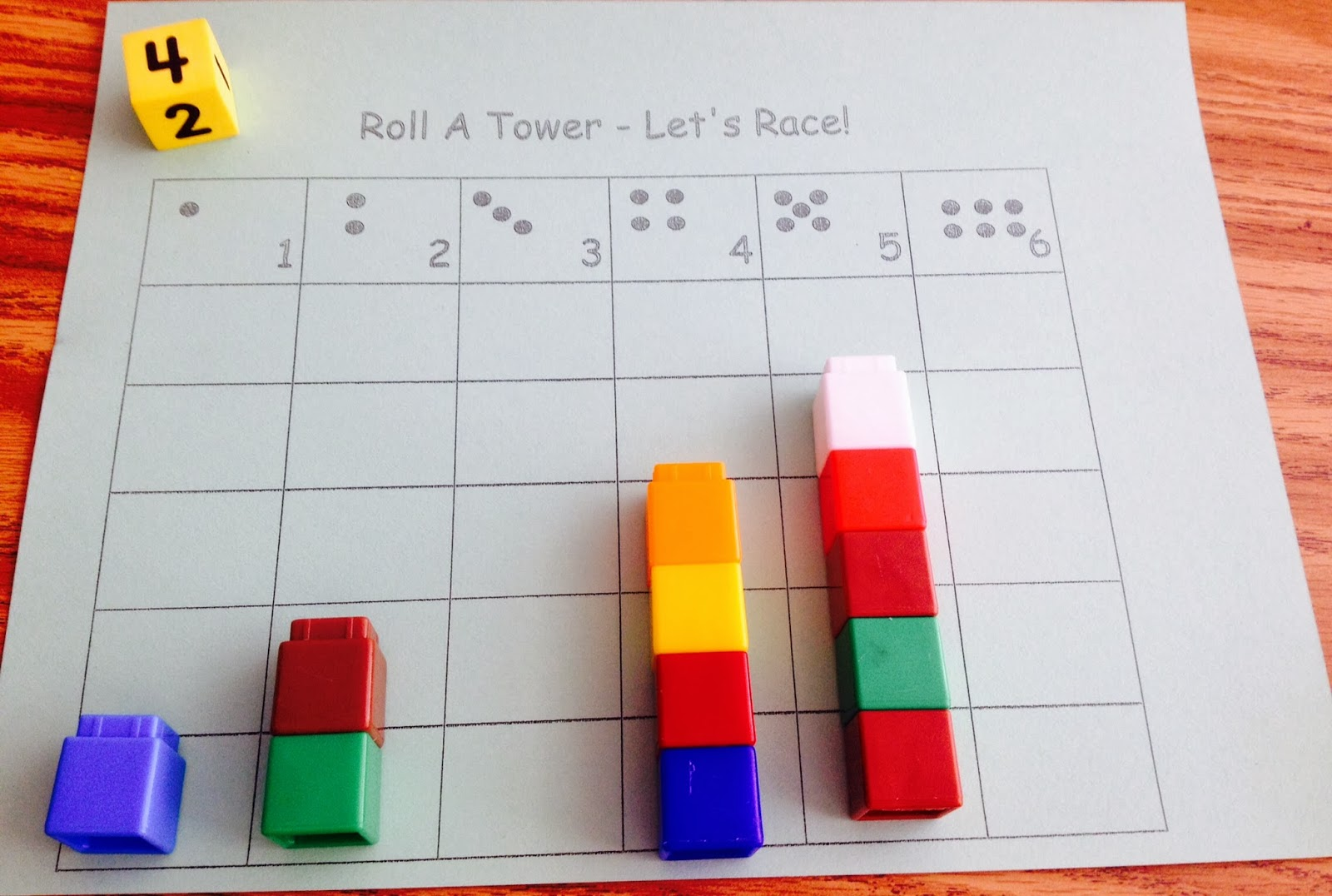Kindergarten Is Crazy  Fun   Teaching Math in Kindergarten  Numbers     Roll a Tower