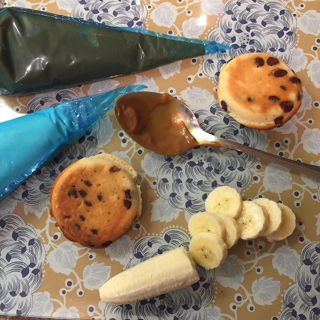 Assembling Banoffee Whoopie Pies
