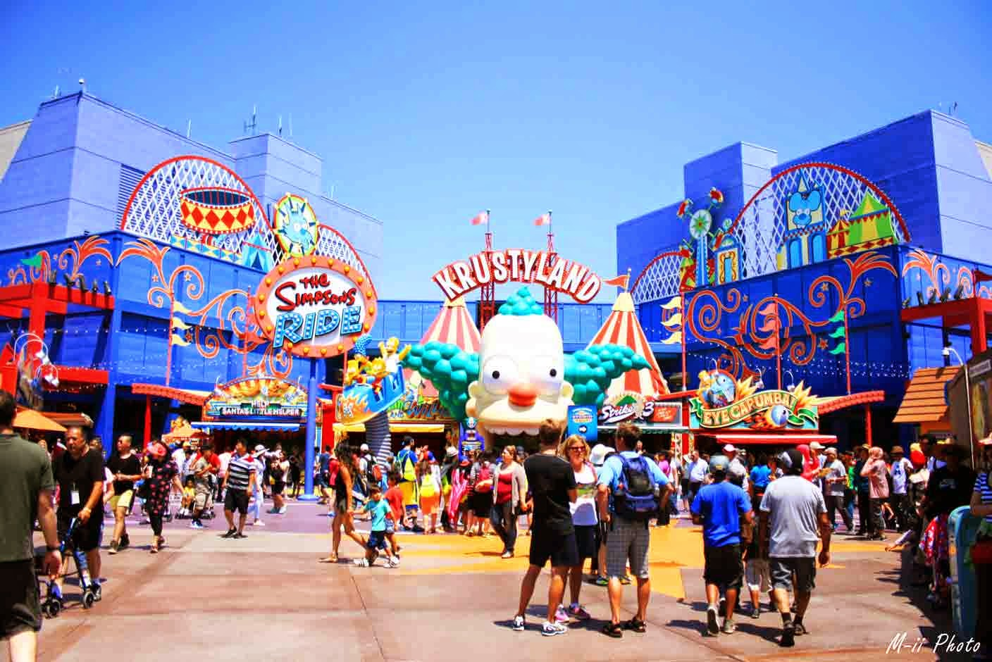Simpsons attraction Universal Studios Hollywood