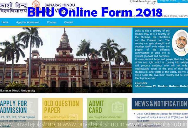 BHU Online Form 2018