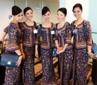 Contoh Batik Untuk Pramugari Terbaru