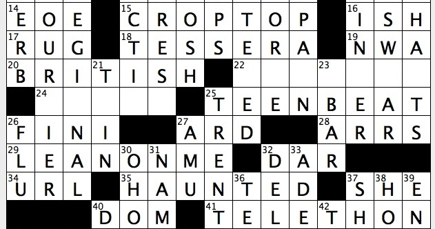 Rex Parker Does The Nyt Crossword Puzzle Suffix With Hater Thu 10 27 16 Monster Film Hit Of 1984 Advice Between Buy Sell Sister Publication Of 16 Magazine Some Gold Rush Remnants Suriname Colonizer
