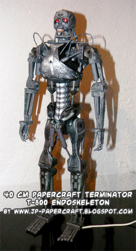 Terminator endoskeleton paper craft