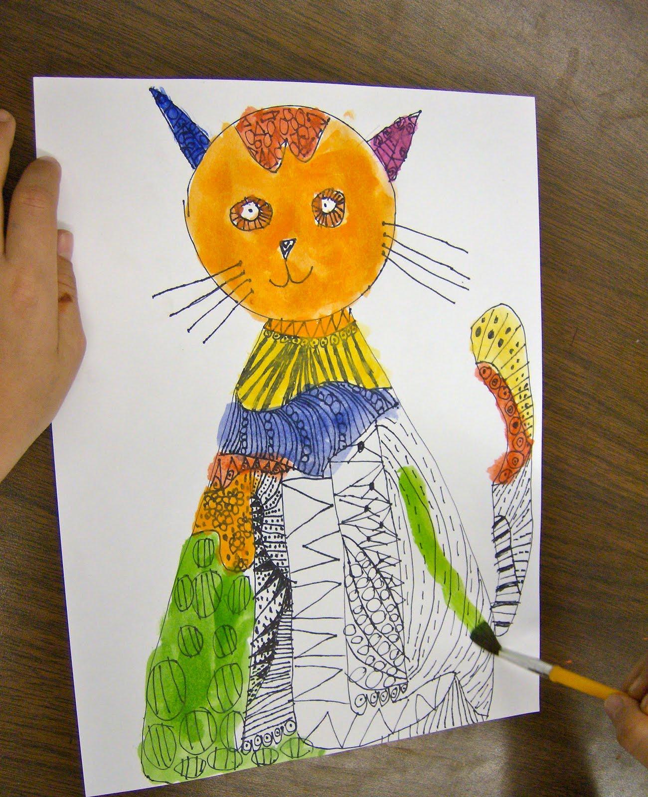Zilker Elementary Art Class 2nd Grade Pattern Animals