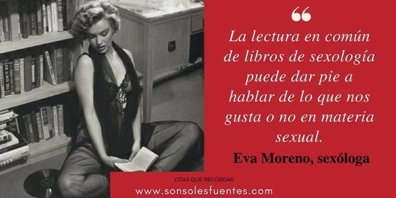 Consejo de la sexóloga Eva Moreno: leer libros de sexualidad