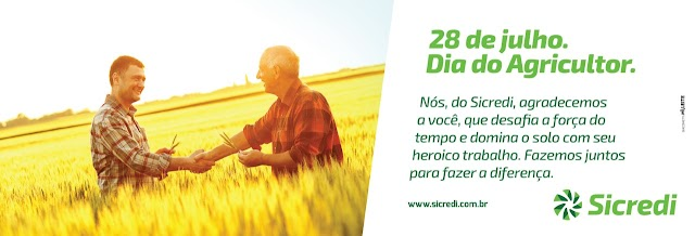 Sicredi homenageia Agricultor pelo seu dia!