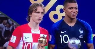مودريتش أفضل لاعب ومبابى أفضل لاعب صاعد