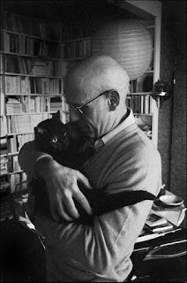Michel Foucault and his cat