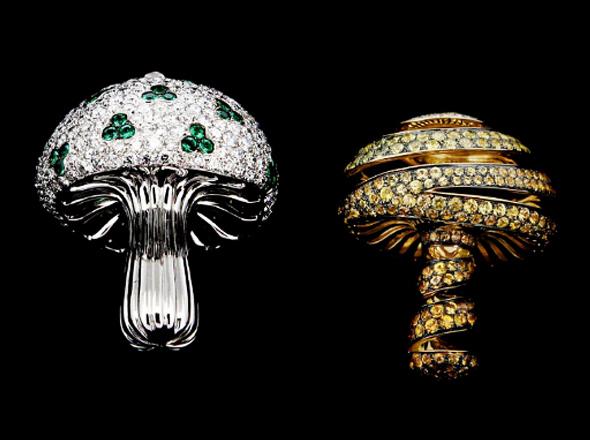 memoria flash USB de lujo con diamantes en  forma de hongo