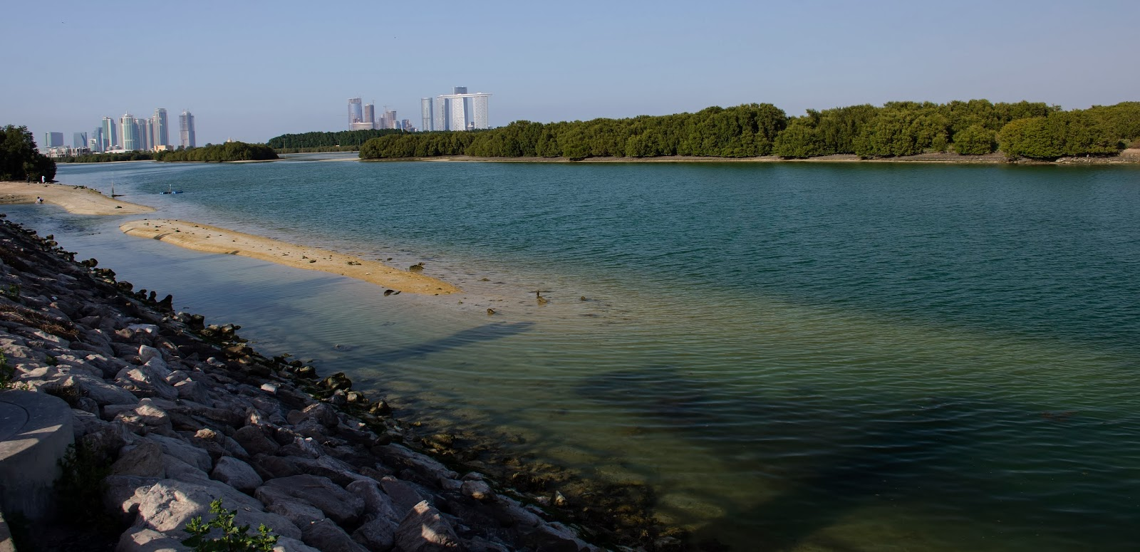 Abu Dhabi Mangroves and Reem Island Skyline