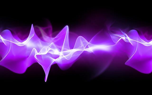Abstracte paarse lichtgevende lijn