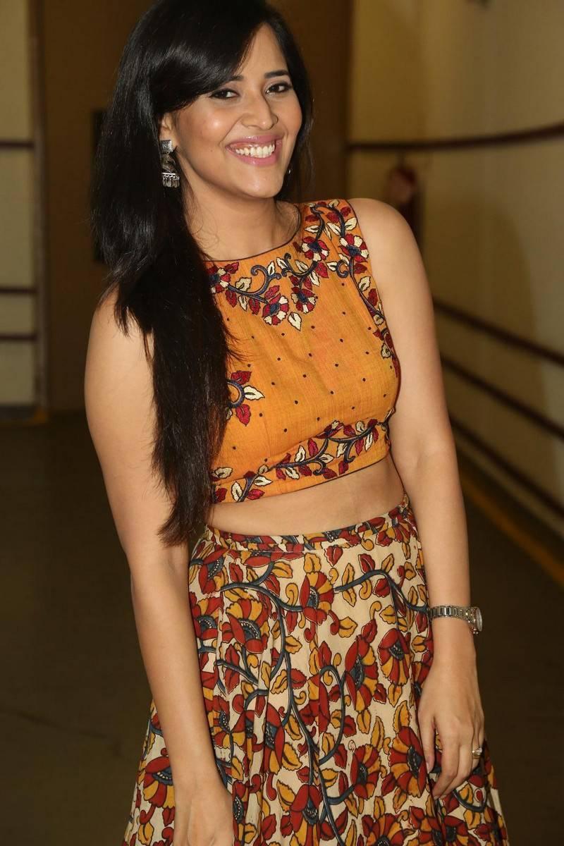 Telugu Tv Anchor Anasuya Hot Smiling Teeth Face Show Stills