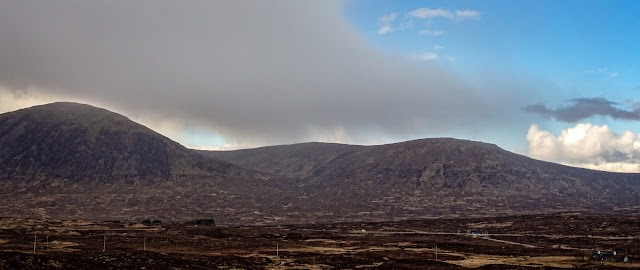 Photo of Beinn a Chrulaiste (left) and Meall Bhalach (right)