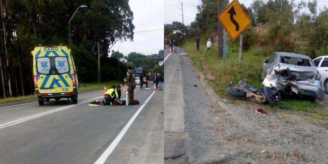 Grave accidente vehícular en la comuna de Ancud
