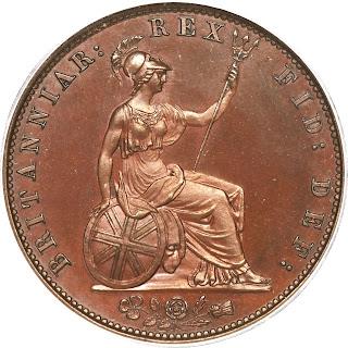 British Coins Halfpenny 1831 Britannia