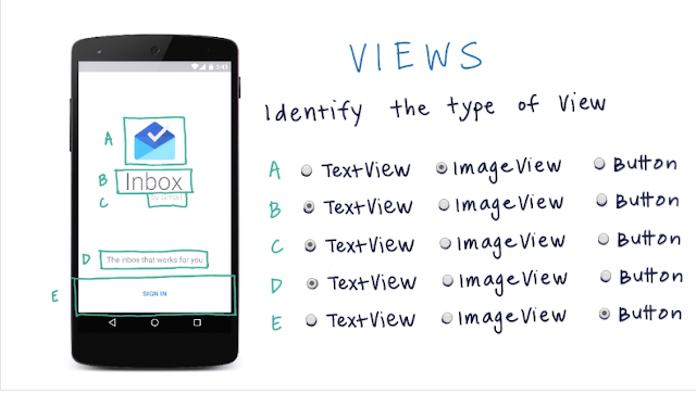Text View Image View Button View in Gmail app