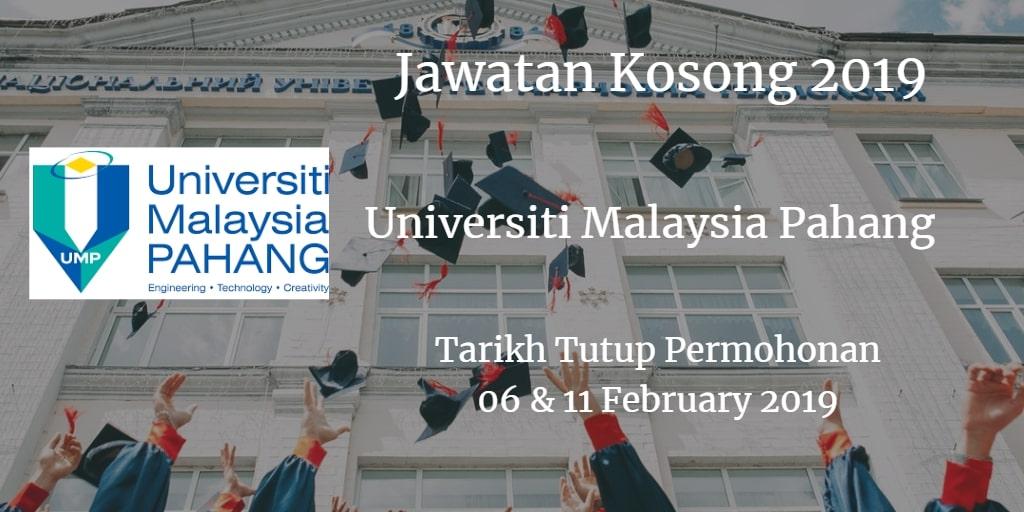 Jawatan Kosong UMP 06 & 11 February 2019