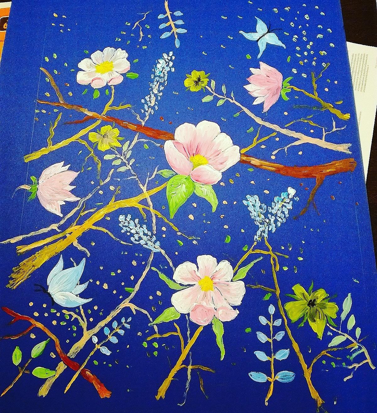 Unelmia ja langanpätkiä Talvi kukkia