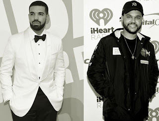drake and the weeknd black and white