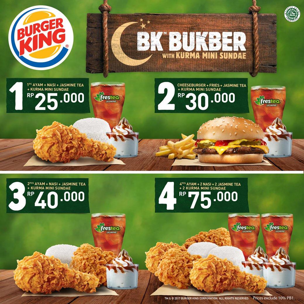 Harga Menu Paket Buka Puasa BK BukBer di Burger King 2017