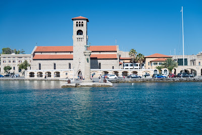 One of the harbours in Rhodes Greece