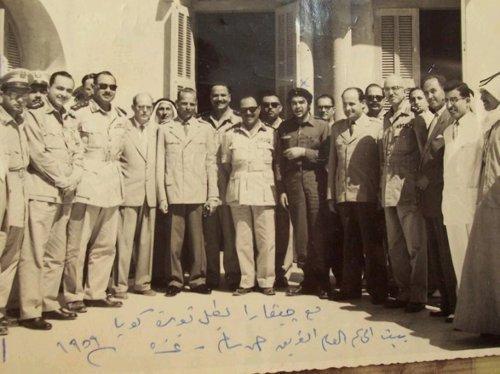 Che Guevara e delegação palestino egipcia - Gaza, Palestina,1959