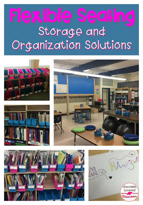 storage solutions for flexible/ alternative seating classrooms