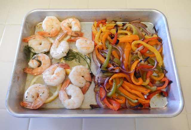 Shellys%2BShrimp%2Band%2BPeppers%2BSheet%2BPan%2BDinner%2BMS Weight Loss Recipes Healthy Dinner Idea: Sheet Pan Shrimp and Peppers