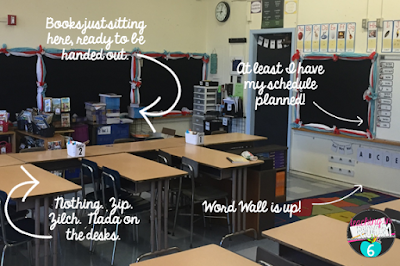 My non-picture perfect classroom is not gorgeous, but that is OK!  Kids will still be able to learn and focus in the room.  As the year goes on, student work will fill up the room