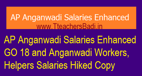 AP Anganwadi Salaries Enhanced GO 18 | Anganwadi Workers, Helpers Salaries Hiked Copy