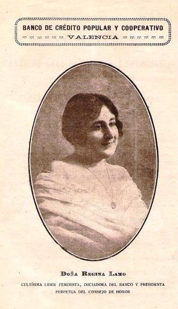 Fotografía de Regina de Lamo, fundadora del Banco de Crédito Popular de Valencia