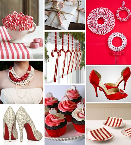 candy cane wedding ideas