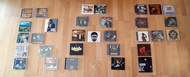Colección CDs físicos de Rap
