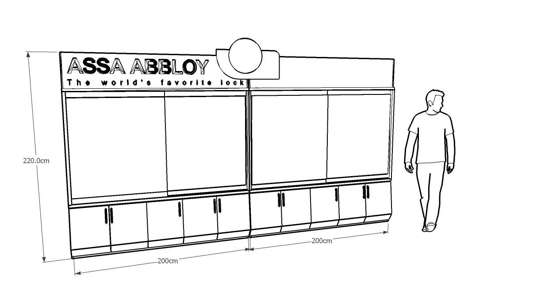 gambar desain etalase toko produk kunci