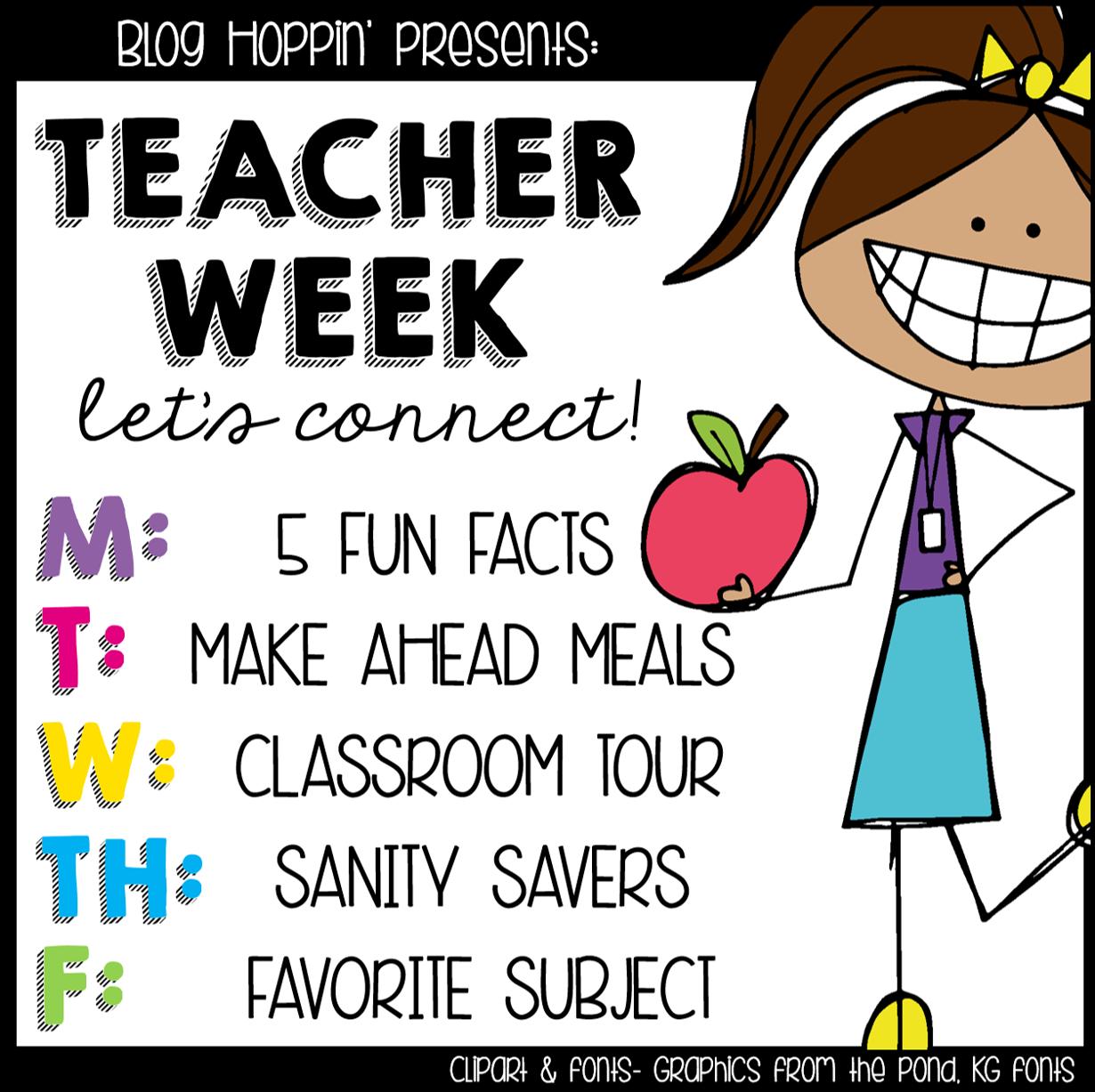 Teacher Week 5 Fun Facts Teaching In Stripes