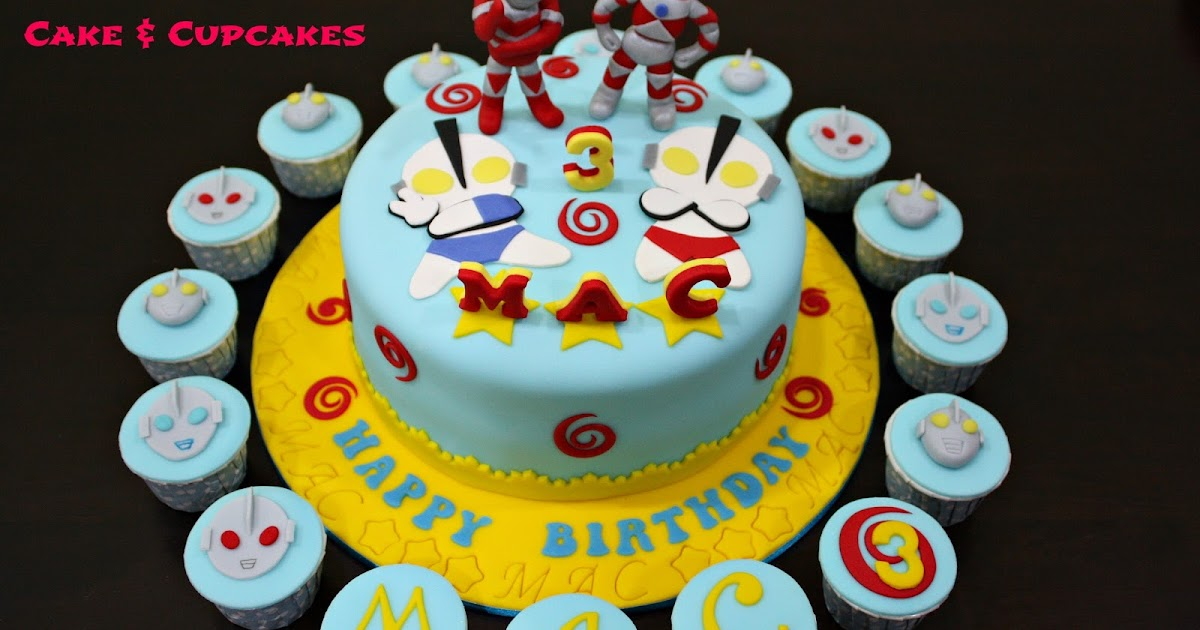 Ultraman Birthday Cake Design