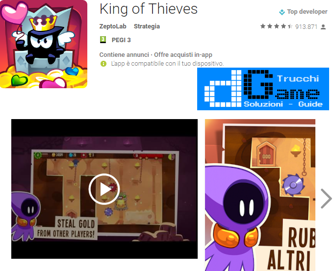 Trucchi  King of Thieves Mod Apk Android v2.16