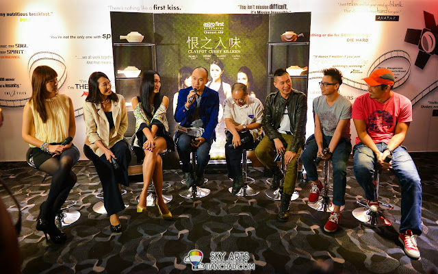 Claypot Curry Killers 恨之入味 Press Conference after the screening [L-R] Mandy Chen, Pearlly Chua, Debbie Goh, James Lee, VIP from Astro, Elvis Chin, Ernest Chong, Steve Yap