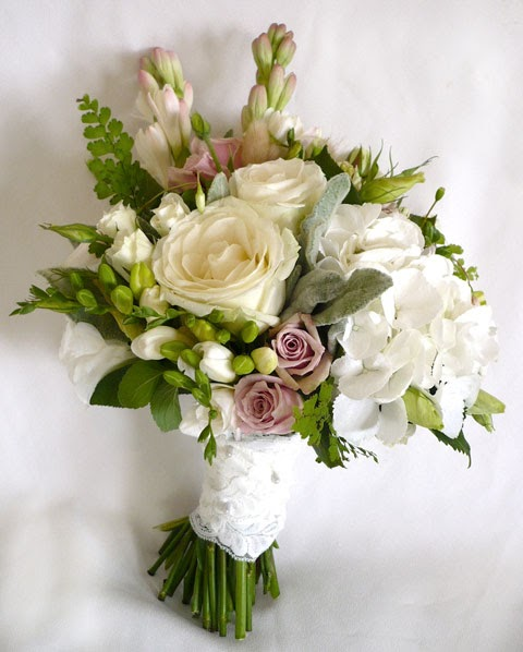 Hydrangea And Tulip Bouquet
