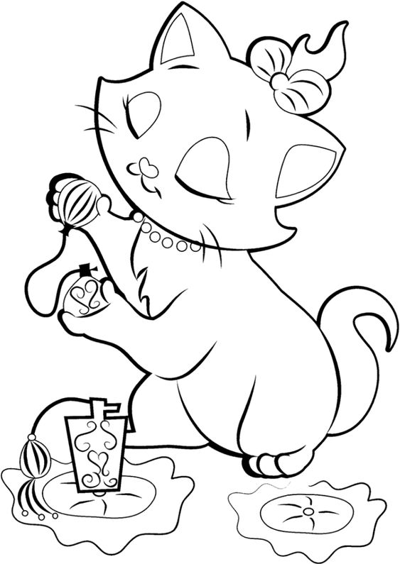 Tranh tô màu con mèo 9