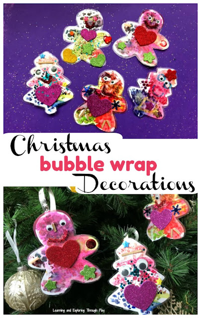 Bubble Wrap Christmas Decorations