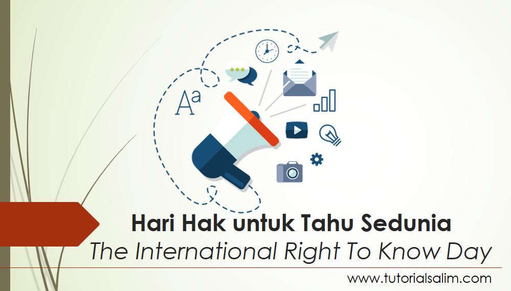 28 September adalah Hari Hak untuk Tahu 2016