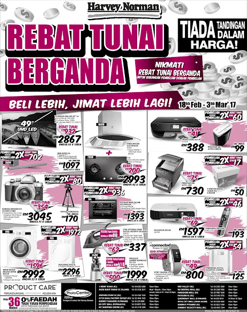 Harvey Norman Malaysia Cash Rebate Discount Promo Sale